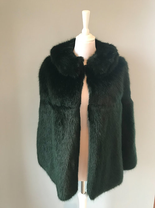 Faux Fur (mink) Green long haired