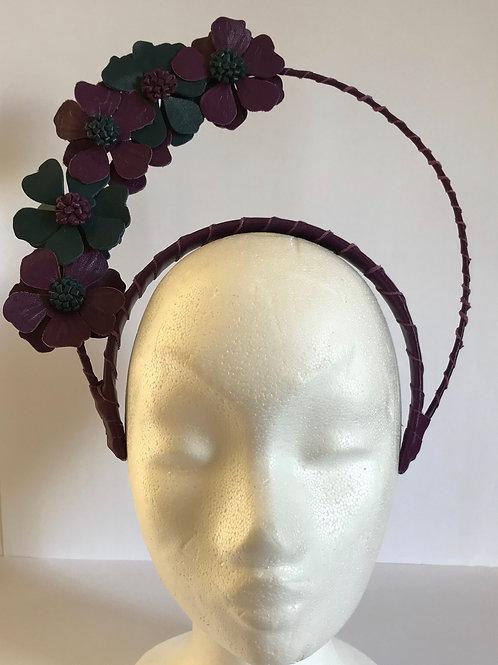 Crown nappa leather purple band