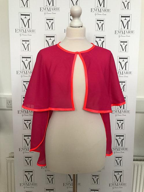 Pink chiffon cape Style Two