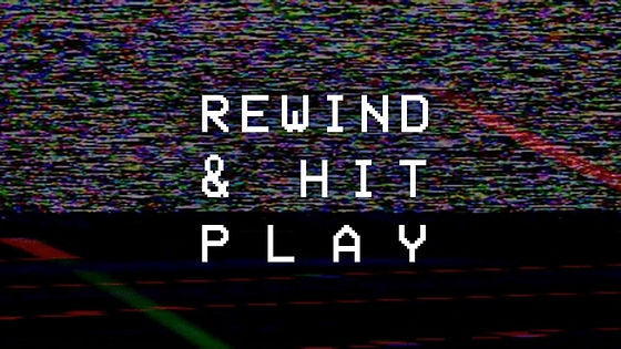 Rewind and Hit Play Logo Design by Grace Danico