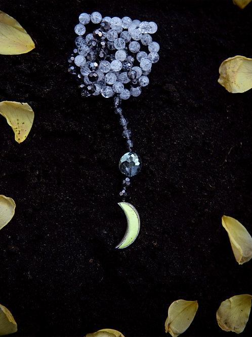 Custom Silver Wrapped Moon Mala