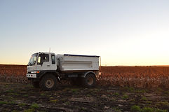 Manure spreading truck, fitted with GPS & scales. Ideal for manure spreading, gypsum spreading, compost spreading.
