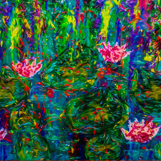WATER LILLIES FLOWING