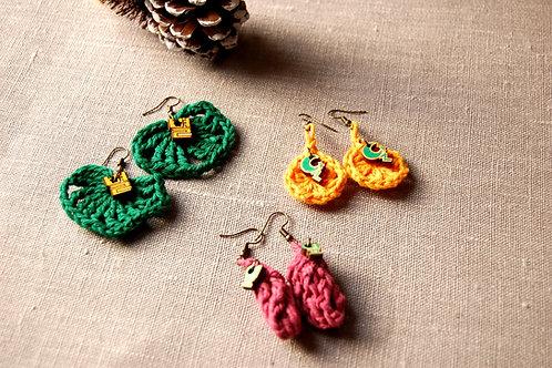 Crocheted hangul Earrings