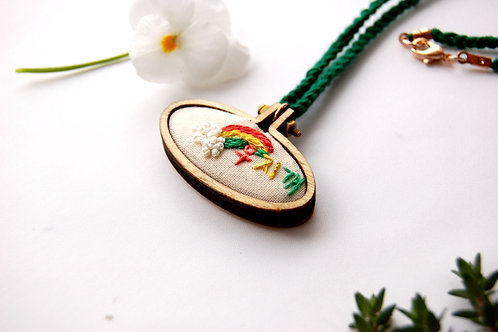 Rainbow Moojigae 무지개 embroidery Necklace