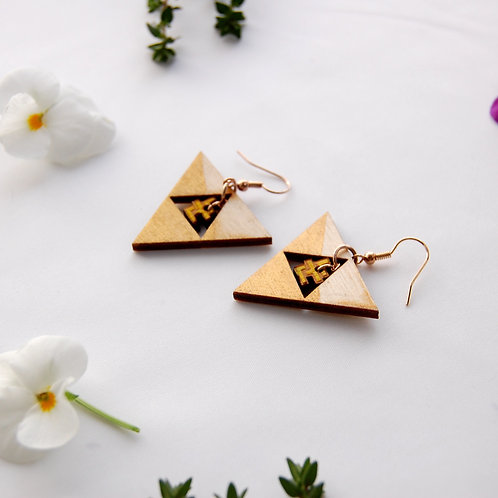 Gold snow Noon 눈 earrings