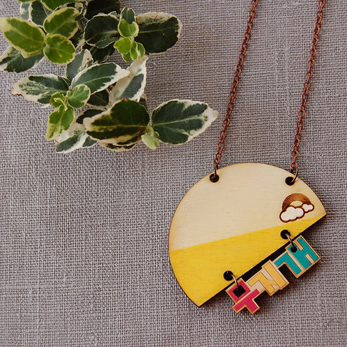 Rainbow 무지개 Moojigae  Necklace 2