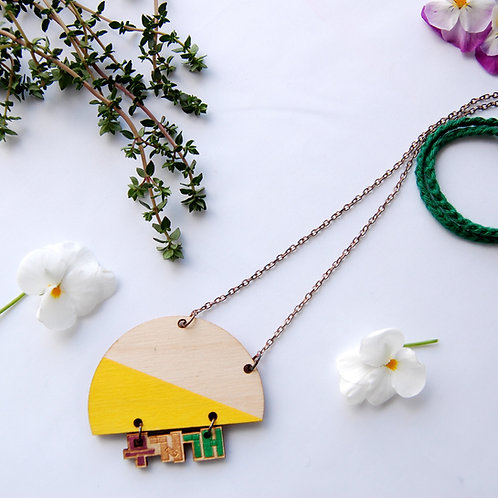 Rainbow Moojigae 무지개 necklace