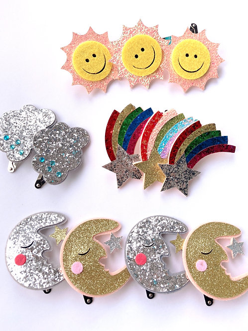 Sparkly hair clips
