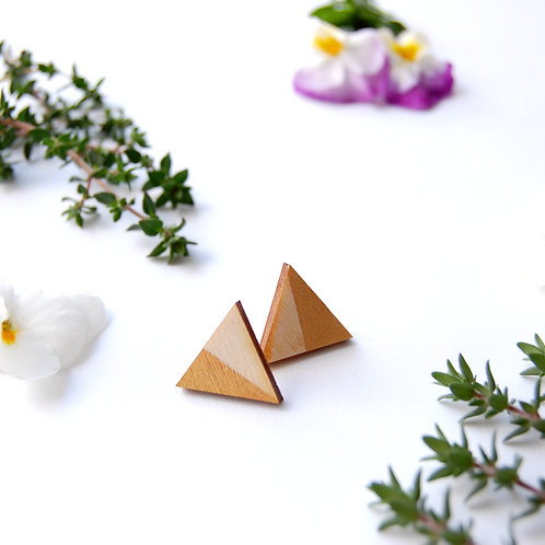 Triangle gold Stud Earrings