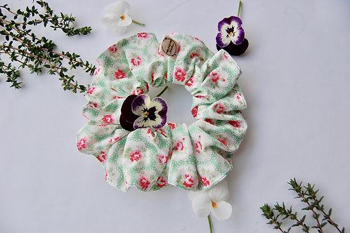 Rose Green Scrunchies