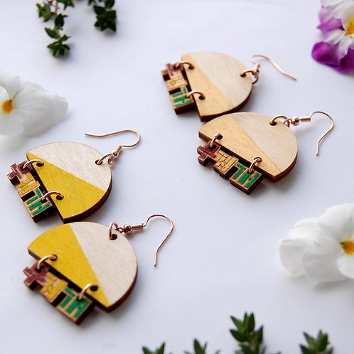 Rainbow moojigae 무지개 earrings