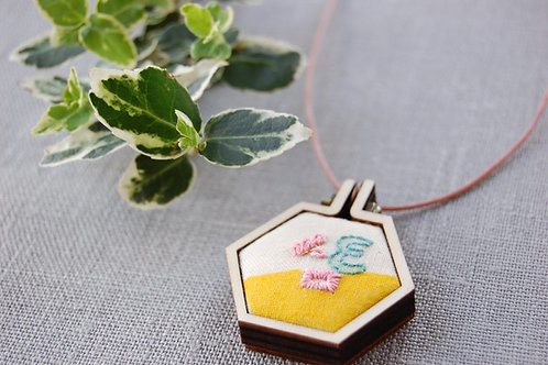 Three Sam 삼 embroidery Necklace