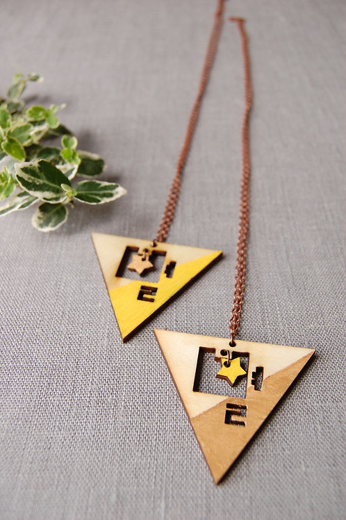 Triangle Star 별 Byul Necklace