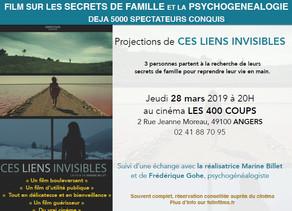 Projection d'un film sur la psychogénéalogie