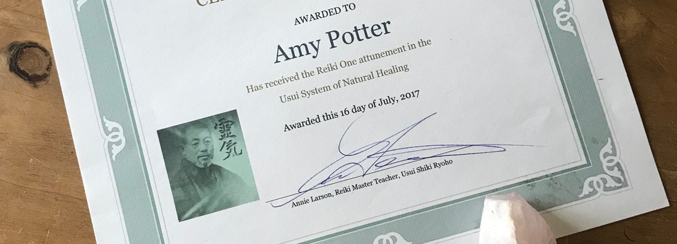 Reiki Level I Certificate