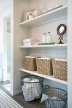 Organized Bathroom Shelves