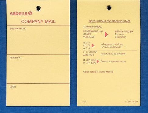 Sabena Label Company Mail