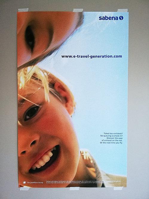 Sabena Poster Qualiflyer Group 1990's QG-L1 Happy Children