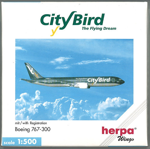 City Bird - The Flying Dream Scale 1-500 model Boeing B767-300 OO-CTQ Falcon