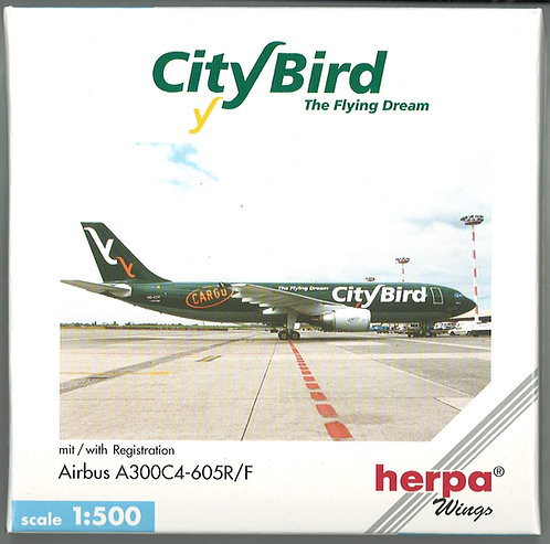 City Bird - The Flying Dream Scale 1-500 model Airbus A300C4-605R Cargo OO-CTT