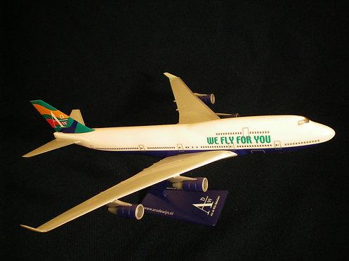 ADW - Ans de Wijn Makelaars Scale 1-250 model Boeing B747-400