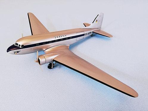 Sabena Scale 1-100 modelDouglas DC-3 S-Shield Colors OO-AUP