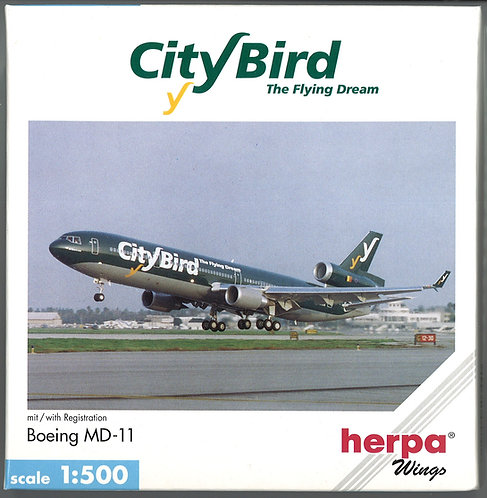 City Bird - The Flying Dream Scale 1-500 model McDonnell Douglas MD-11 OO-CTB