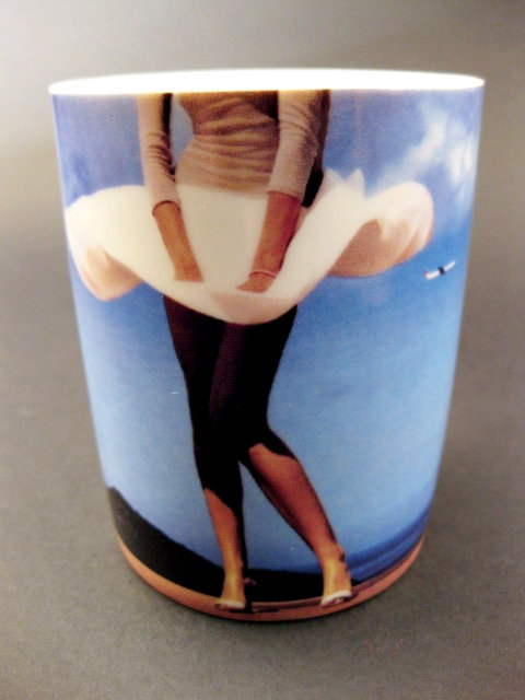 Air France Bone China Ware Mug Marilyn Monroe's Iconic Flying Skirt