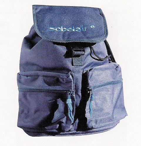 Sobelair Bag Backpack Blue Logo