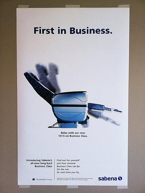 Sabena Poster Qualiflyer Group 1990's QG-L1>L7 Collection