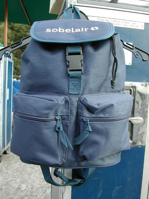 Sobelair Bag Backpack Silver Logo