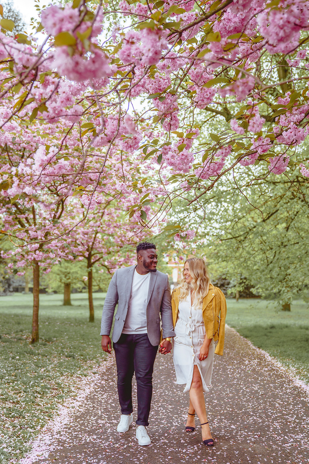 Greenwich Park Spring Blossom Engagement Shoot