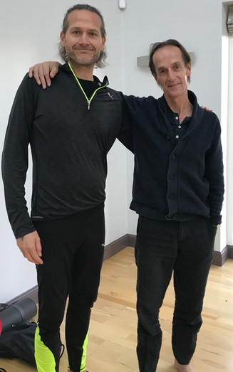 Chris with his teacher Pete Blackaby