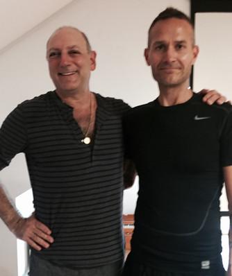 Chris with his teacher Leslie Kaminoff