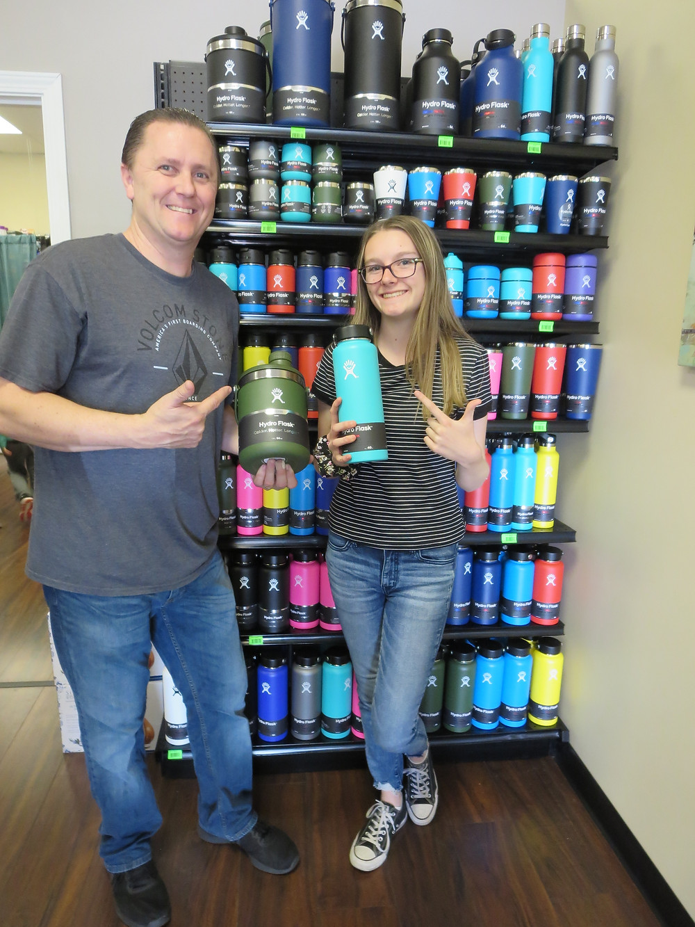 Jason Daetwiler and daughter at Simply Nutrition Lincoln CA