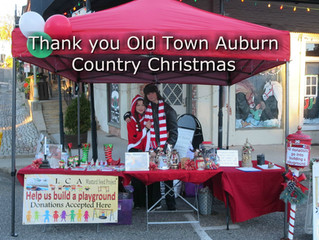 Auburn Country Christmas - Where quaint cobblestone sidewalks, old buildings out of a Charles Dicken