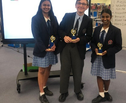 Year 10 Public Speaking Award Winners 2019