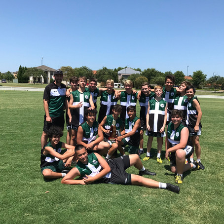 John Therry Catholic College 7-8 Boys AFL East Zone Champions 2020