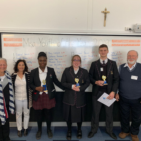 Year 9 Youth of the Year Award Winners 2019