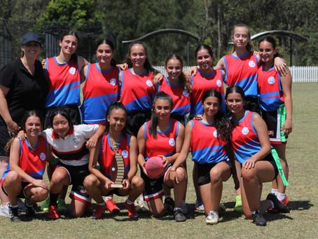 Freeman Catholic College 7-9 Girls Oz Tag North Zone Champions 2020