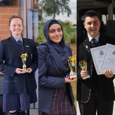 Year 9 Youth of the Year Award Winners 2020
