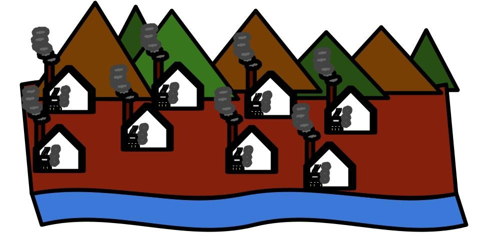 Houses with stoves