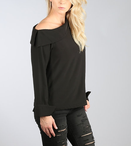 Asymmetrical Shoulder Blouse