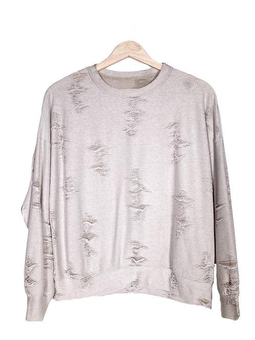 Taupe Distressed Sweatshirt