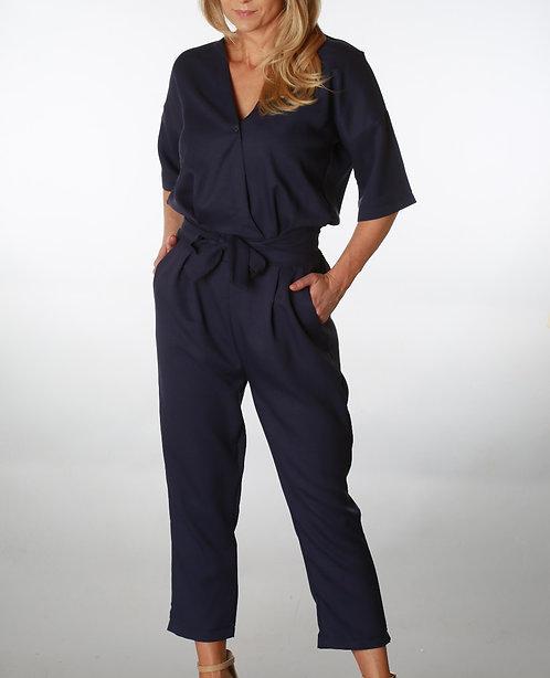 Ann Navy Blue Jumpsuit