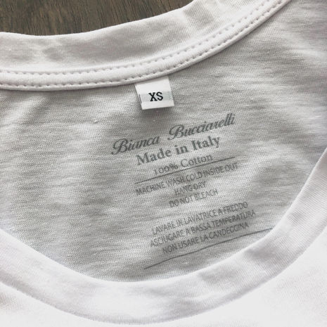 High Quality T-Shirt / 100% Cotton Made in Italy