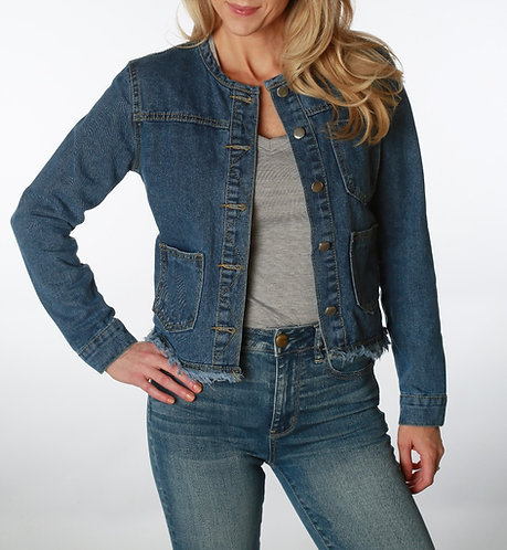 Claire Frayed Jean Jacket