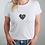 Thumbnail: White T-Shirt with Custom Heart Design