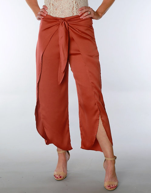 Front Tie Cropped Terra Pant